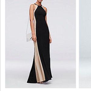 long halter prom dress